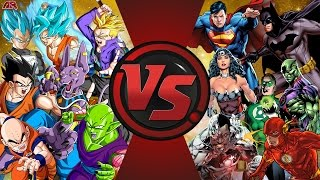 Z-FIGHTERS vs JUSTICE LEAGUE! TOTAL WAR! (Dragon Ball Z vs DC Comics) Comic-Fight Club-Folge 164