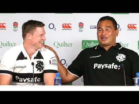 England v Barbarians - Pat Lam & Chris Ashton Post Match Press Conference