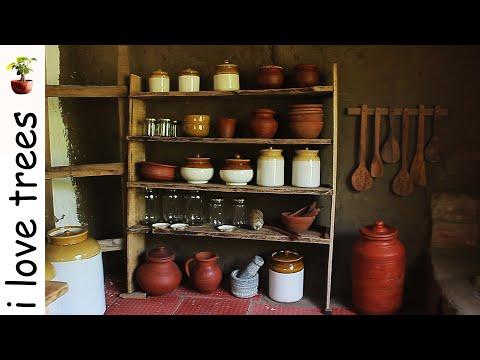 hobbit house I kitchen set up I pots I primitive