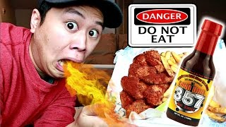 World's Hottest Wings Challenge (DO NOT TRY THIS!!)