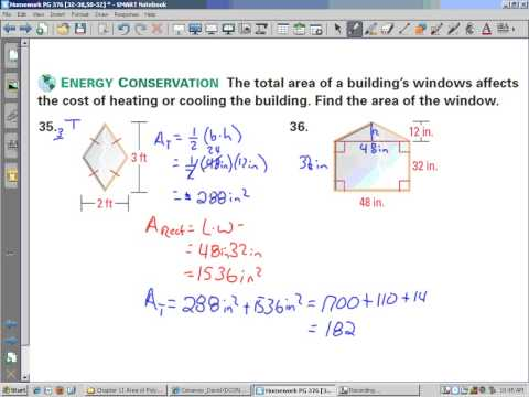 Homework PG 376 [32-38,50-52]