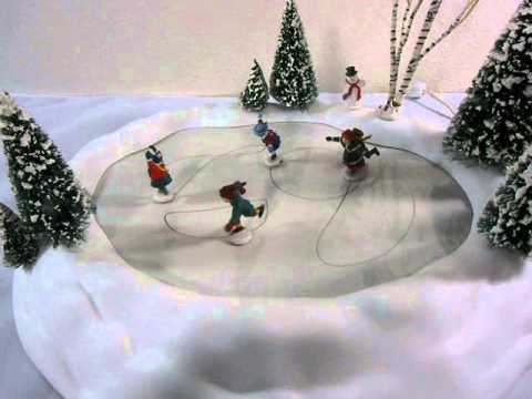 Village Animated Skating Pond Department 56 Youtube