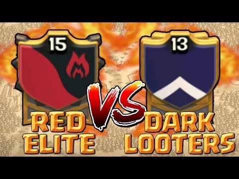 AMAZING! Red Elite vs Dark Looters Epic CoC War 2017 | Clash of Clans