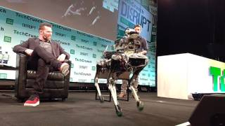 Google-owned robot lab Boston Dynamics shows off its Spot Mini prototype at TechCrunch Disrupt