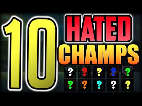 Top 10 Most Hated Champions in LoL | League of Legends Season 9 thumbnail