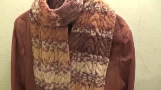 шарф спицами / со схемой