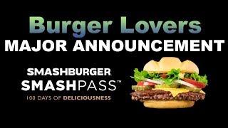 Smashburger SMASHPASS - Burger Lovers Take Note!!!!  | JKMCraveTV