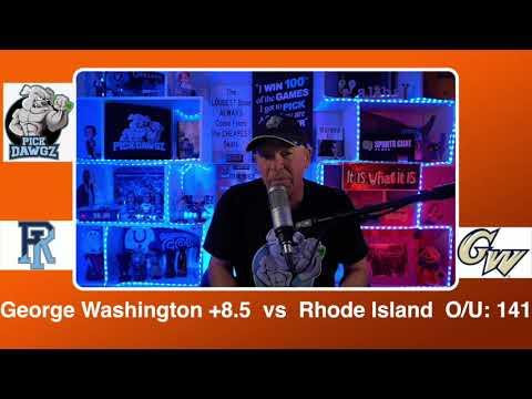 George Washington vs Rhode Island 2/21/21 Free College Basketball Pick and Prediction CBB Betting