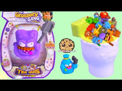 Grossery Gang TIME WARS ! Fizz N Flush Surprise Water Blind Bags