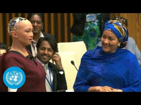 UN Deputy Chief Interviews Social Robot Sophia