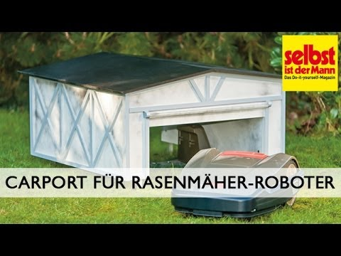 carport f r rasenm her roboter bauen youtube. Black Bedroom Furniture Sets. Home Design Ideas
