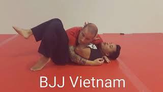 Học võ Brazillian JiuJitsu (BJJ) căn bản -  Hướng dẫn cách thoát khi bị (side control)