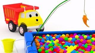 Pesca : aprender colores con Ethan el Camión Volquete | Dibujos animados para niños