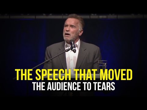 December 2018 : Arnold Schwarzenegger Moved The Entire Audience To Tears