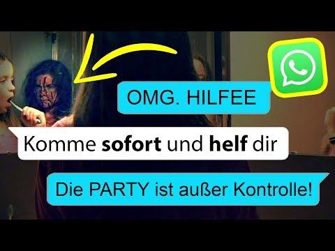 Heftig Gruselige Party ist außer Kontrolle!!! Whatsapp Chat  😡😡