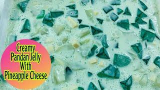 Creamy Pandan Jelly With Pineapple Cheese  Angelann Brent