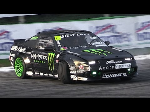 Nissan 200SX Drift Car with an Amazing Turbo Flutter Noise - Show at Monza Rally 2015