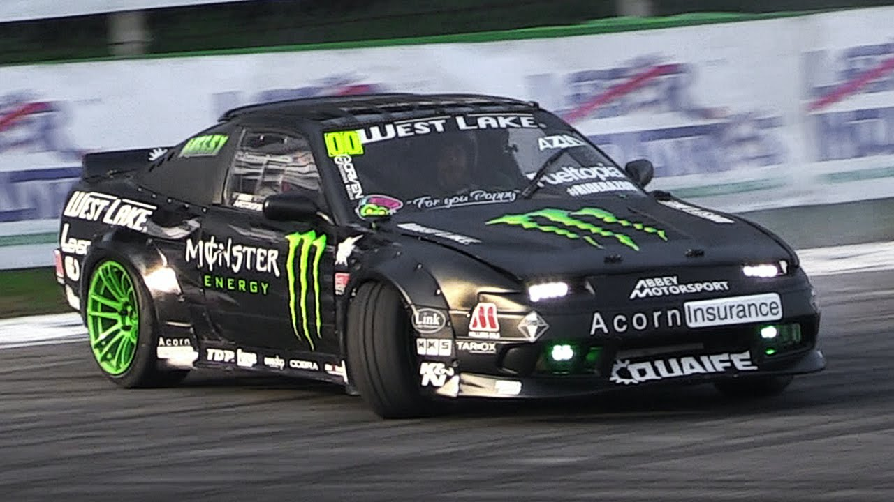Nissan Drift Car With An Amazing Turbo Flutter Noise Show