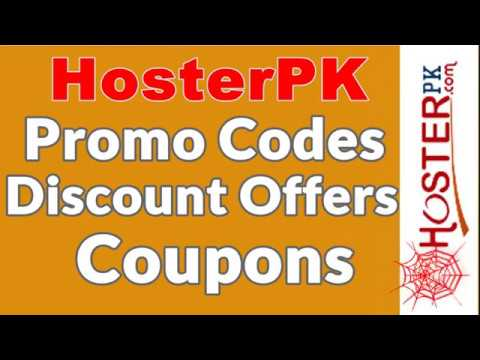 Hosterpk Promo Codes | Promotional Codes | Discount Offers | Coupons