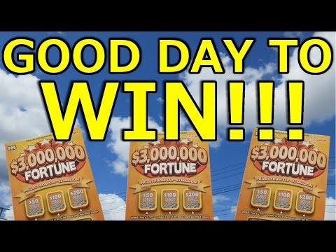 WINNER!! PROFIT HIT!! $3,000,000 FORTUNE LOTTERY TICKET!! SCRATCHING ON A NICE DAY