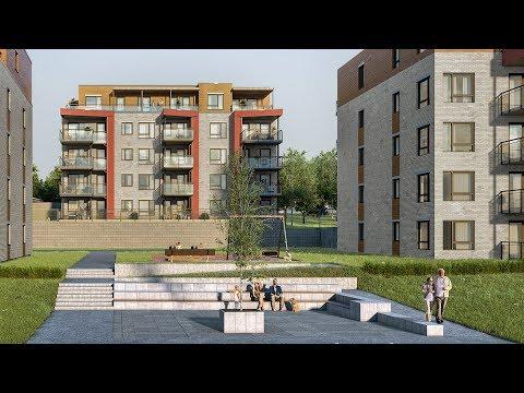 Elveparken Brygge bygg 9 - nye leiligheter tett på elva i Porsgrunn