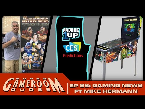 RetroMania Wrestling with Mike Hermann! Arcade1Up CES Predictions, and Pinball! from PDubs Arcade Loft