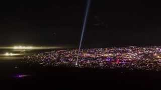 Burning Man 2013 Time-Lapse: Seen Miles Away From A Mountain Top