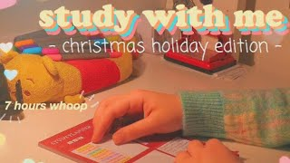 Christmas Edition Study With Me || 7 Hours