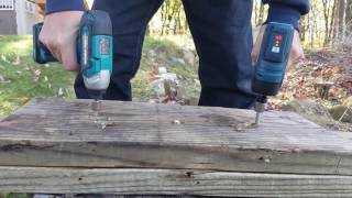 Makita (DT03) vs.Bosch Brushless(PS42) 12v Impact Driver Face Off