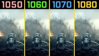 Battlefield 1 GTX 1050 Ti vs. GTX 1060 vs. GTX 1070 vs. GTX 1080