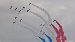 Red Arrows & Patrouille de France Concorde Special Flypast RAF Fairford RAIT 2019 AirShow