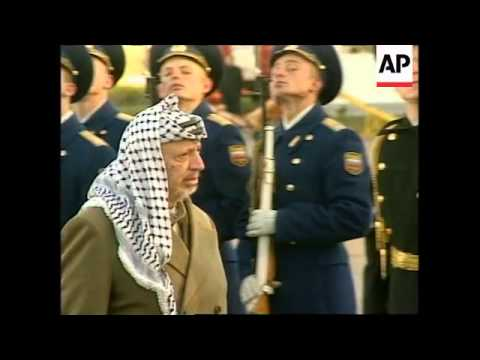 RUSSIA: MOSCOW: YASSER ARAFAT ARRIVES FOR TALKS WITH BORIS YELTSIN