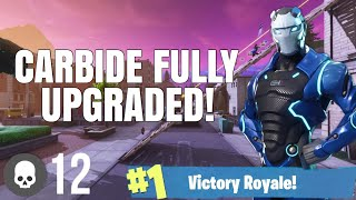 "LEVEL 65 ""CARBIDE"" Full Armour Unlocked! - Fortnite Season 4 Battle Pass Skin Fully Upgraded"