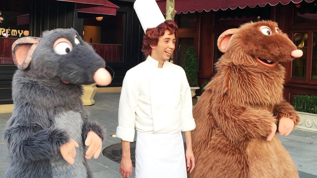 Rare Disney Characters At Disneyland Paris Rundisney 5k W Remy Linguini Emile Roger Rabbit Youtube