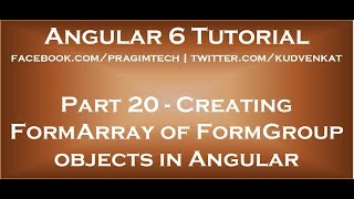 Creating formarray of formgroup objects in Angular
