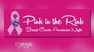 """The Bridgeport Sound Tigers are hosting """"Pink in the Rink"""" night to..."""