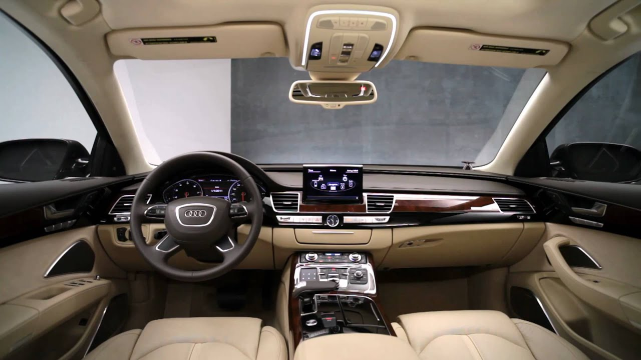 2011 audi a8 interior design youtube. Black Bedroom Furniture Sets. Home Design Ideas