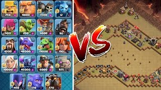 ALLE TRUPPEN vs TROLL BASE! || CLASH OF CLANS || Let