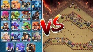 ALLE TRUPPEN vs TROLL BASE! || CLASH OF CLANS || Let's Play CoC [Deutsch/German]