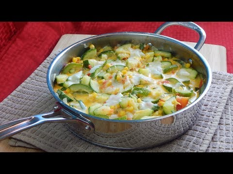 Calabacitas con Queso | Zucchini with Cheese Dish Recipe | The Sweetest Journey
