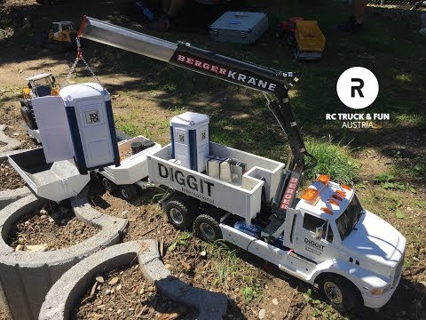 RC Construction World !! Trucks, Excavator & Wheel loader Action! Sommerfest PSV Wels 2017