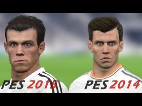 PES 2015 Vs PES 2014 Real Madrid Face Comparison