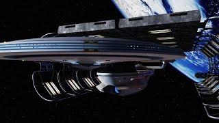 (My VFX) Generations Enterprise B Leaving Drydock Recreation Revisit Complete V2