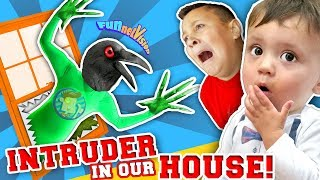 GET OUR OF OUR HOUSE YOU WEIRD BIRD MONSTER!! Funny Fails  FUNnel Family Vlog   Skit