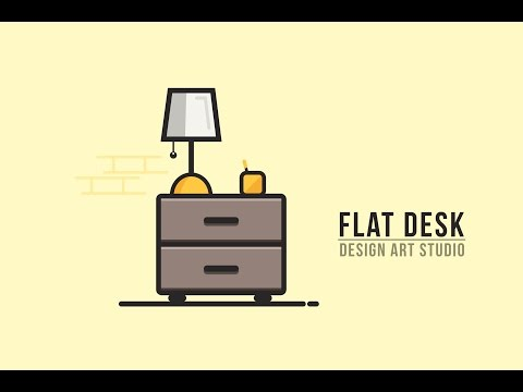 Illustrator Tutorial | New Flat (DESK) Graphic Design