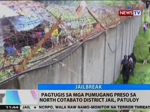 BT: Pagtugis sa mga pumugang preso sa North Cotabato District Jail, patuloy