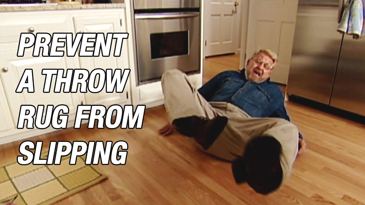 Prevent A Throw Rug From Slipping, Stop Rug From Slipping On Laminate Flooring