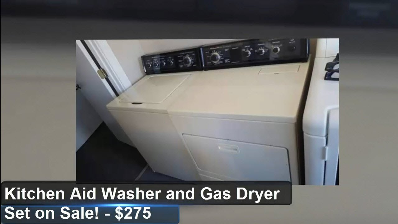 KitchenAid Washer And Gas Dryer Set For Sale $275 Tampa