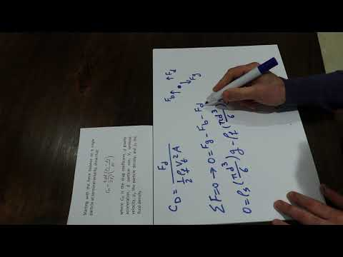 Sample question for particle motion in fluids and drag coefficient