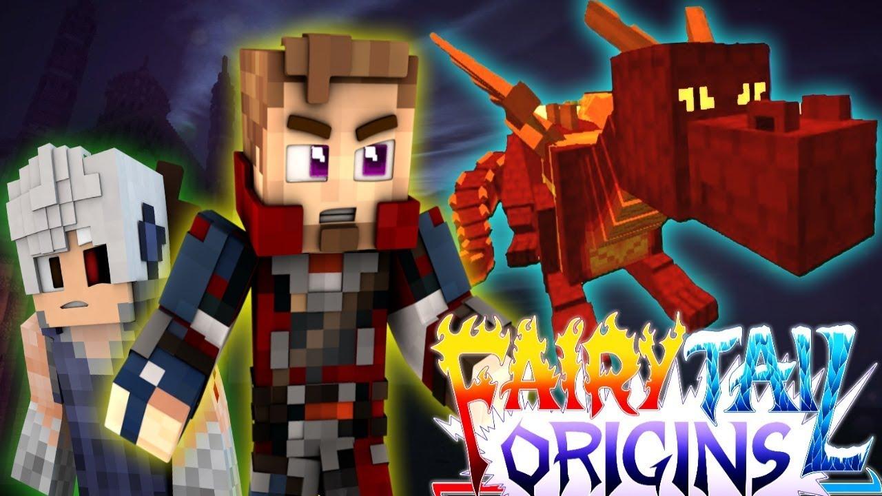 "Minecraft FAIRY TAIL ORIGINS #4 ""HATCHING A BABY DRAGON ..."
